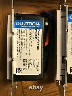 Quatre 4 Nouveaux Interrupteurs D'éclairage Intelligent De Lutron Caseta Sans Fil Blancs Pd-5ans-wh-r