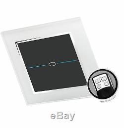 Retrotouch Led Dimmer Touch Et À Distance Chrome Garniture Interrupteur 1, Gang Blanc
