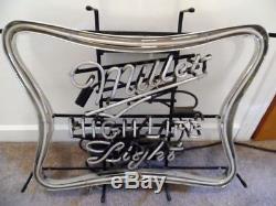 Signe À Bière Léger Neon Miller High Life Avec Variateur 27w X 22h X 4