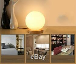 Simple Table Ronde En Verre Lampe Boule Carrée Chaud Dimming Led Nuit Chambre