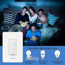 Smart Dimmer Switch, Tessan Dimmable Wifi Led Gradateur, Compatible Wi