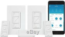 Smart Éclairage Caseta Sans Fil Interrupteur Variateur Intérieur 2 Count Starter Kit Nouveau