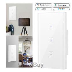 Smart Light Dimmer Mur Interrupteur Tactile Contrôle Wifi Travailler Avec Alexa Google