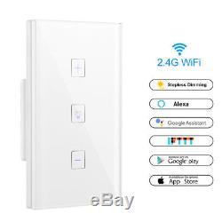 Smart Light Gradateur Mur Touch Control Wifi Lumière Interrupteur Assistant De Travail Ifttt