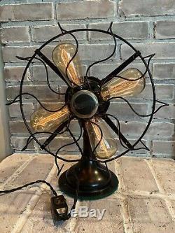 Steampunk Westinghouse Fan Lampe Edison Ampoules Et Gradateur