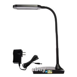 Tw Éclairage -40bk Ivy Led Lampe De Bureau Avec Un Port Usb, 3 Voies Tactile Switch, Noir