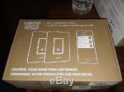 Wemo Dimmer Commutateur D'éclairage Wi-fi 2-pack Fonctionne Avec Alexa & Google Assistant Home