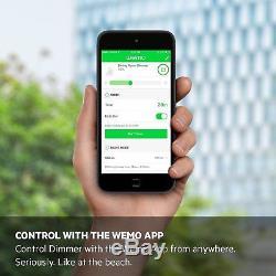 Wemo Dimmer Wi-fi Commutateur D'éclairage, Fonctionne Avec Alexa
