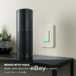 Wemo Dimmer Wi-fi Light Switch, Fonctionne Avec Amazon Alexa Et Google Assistant