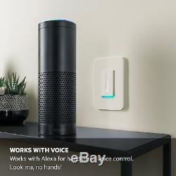 Wemo Wi-fi Interrupteur De Gradateur, Fonctionne Avec Contrôle Vocal Alexa, Assistant Google
